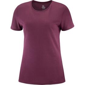 Salomon Comet T-shirt Dames, winetasting/heather
